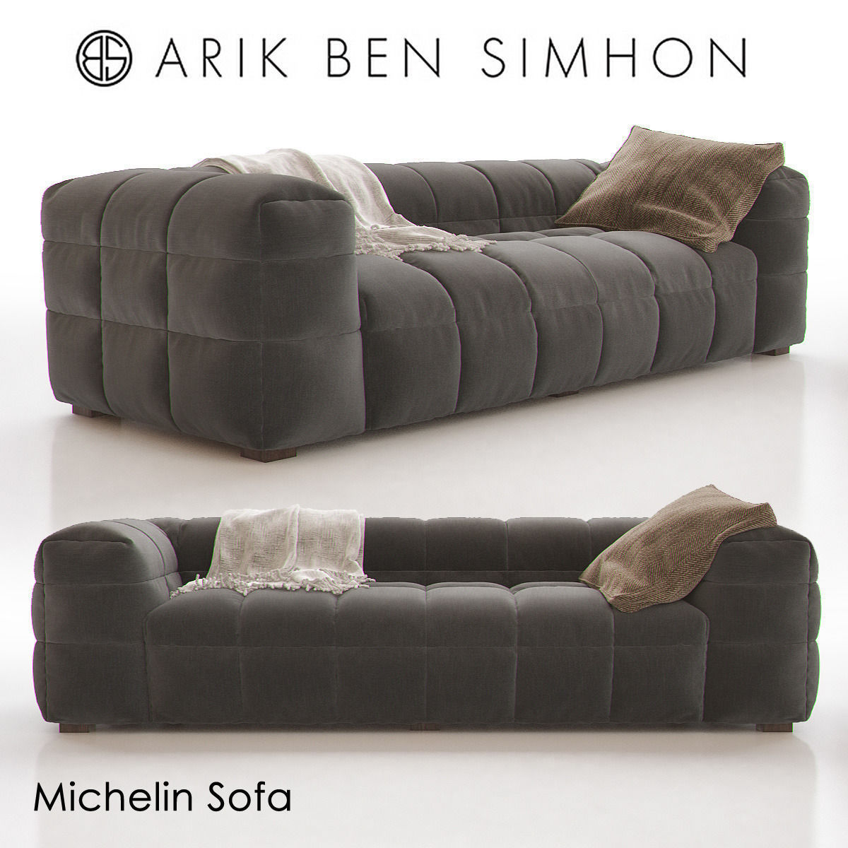 Beau Michelin Sofa By Arik Ben Simhon 3d Model Max 1 ...