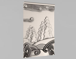3d print model carved panels - 9