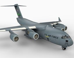 C17 Globemaster with Interior 3D Model