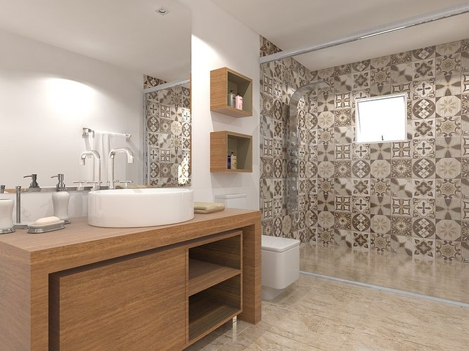 Bathroom 3d architectural cgtrader for Bathroom models photos