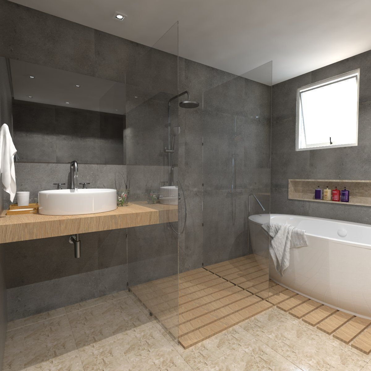Detailed bathroom 3d model skp for Bathroom models photos