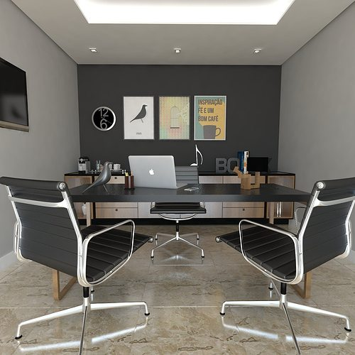 home office 3d model fbx skp 1