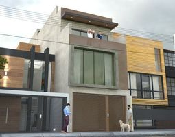 architectural 3D modern house