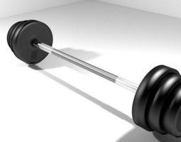 Exercise Equipment Barbell 3D model