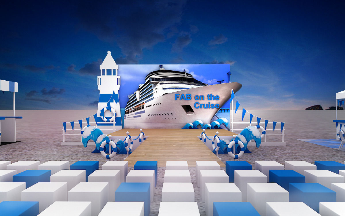Cruise Event Stage Design 3d Model Max 3ds Cgtrader Com