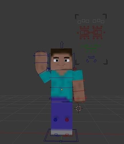 3d asset minecraft character steve cgtrader Minecraft 3d model maker