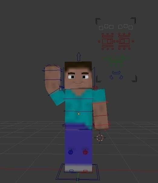 3D Model Minecraft Character --- Steve VR / AR / Low-poly