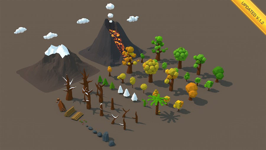 Low Poly Nature Mega Pack | 3D model