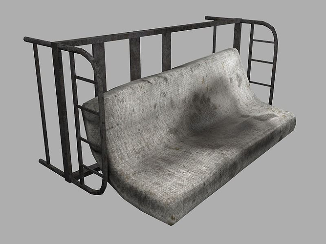 dirty mattress 3d model low-poly obj mtl ma mb tga 1