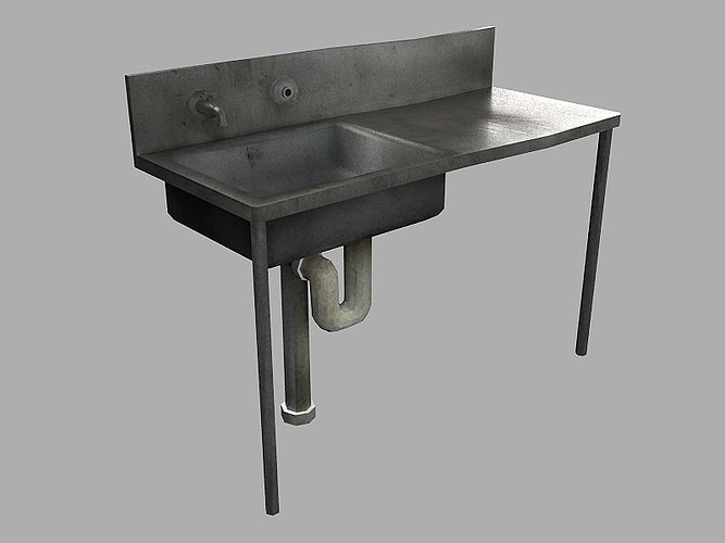 old sink 3d model low-poly obj mtl ma mb tga 1