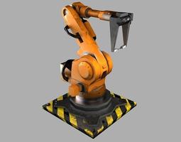 low-poly 3d asset robot arm