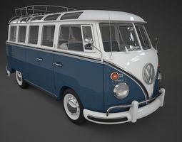 vw bus t1 samba 3d