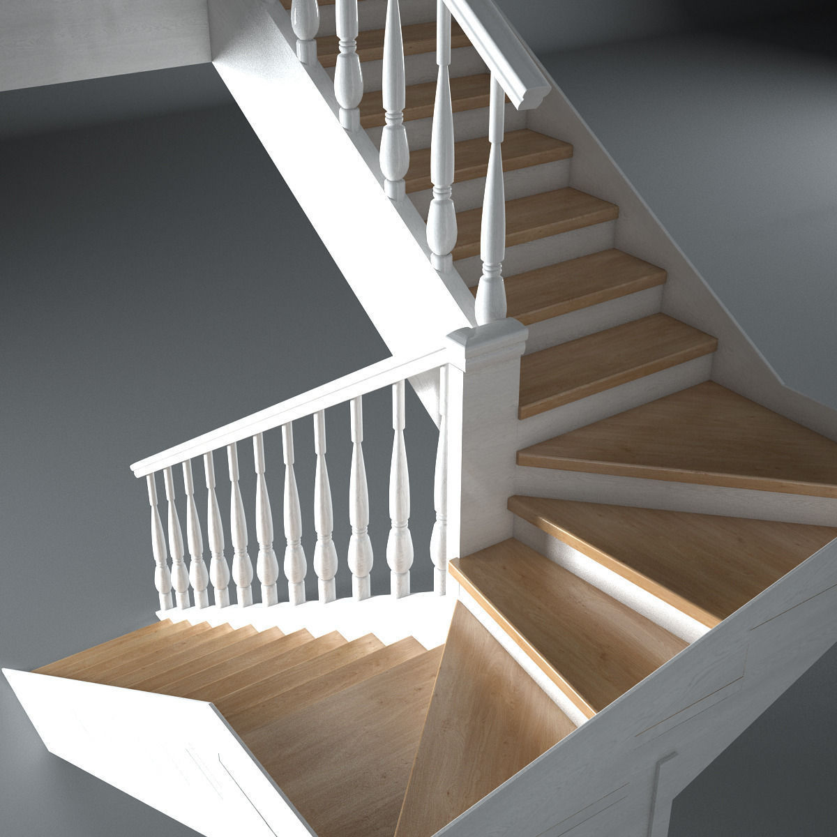 Wooden Stairs Model Max Obj Mtl S Fbx 2