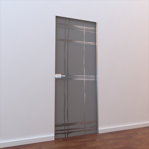 Glass door l 001 3d model max mat for Door 3d model