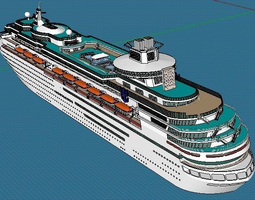 Luxurious Travelling Ship 3D model