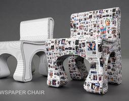 3D OBAMA NEWS CHAIR