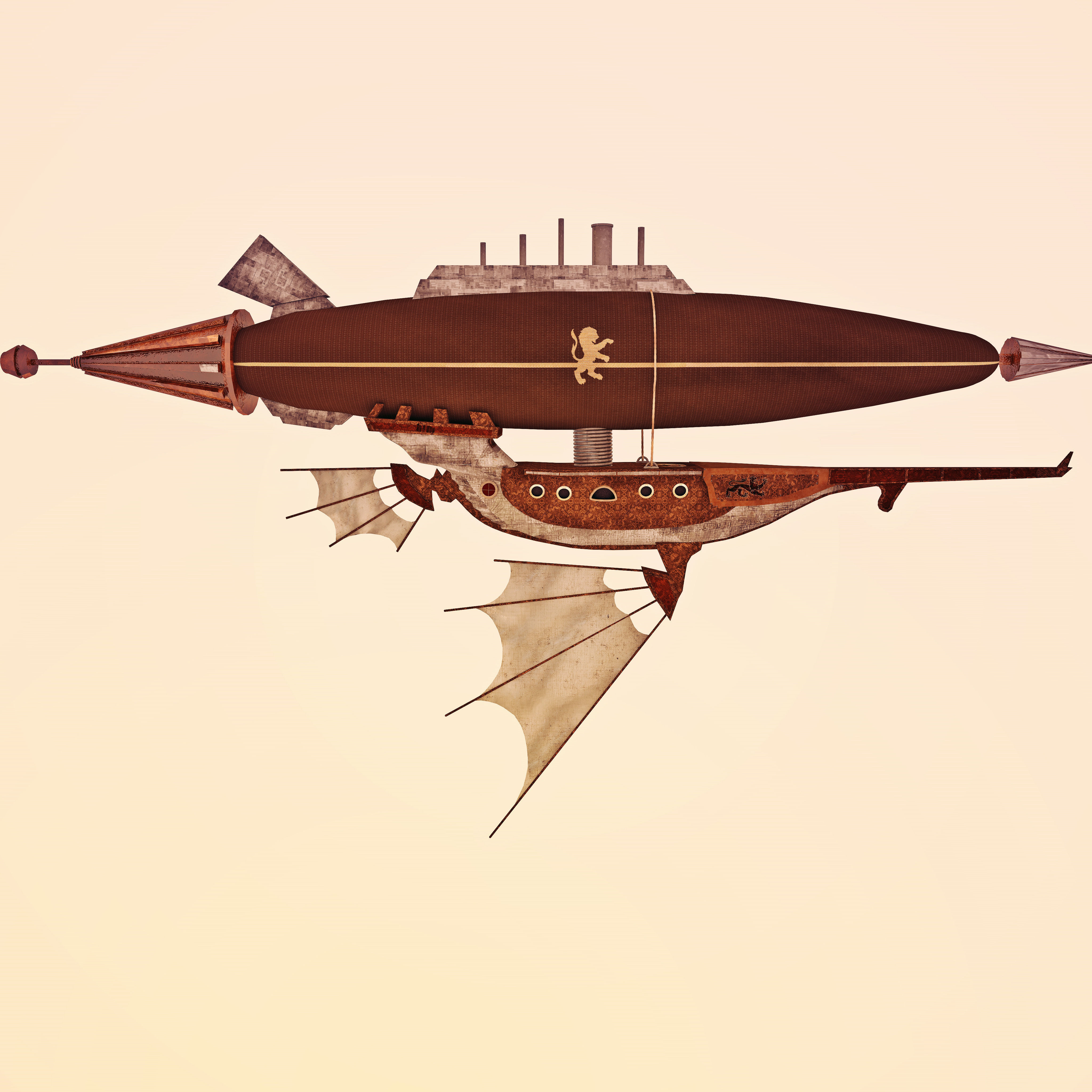 Best Buy Military Discount >> 3D model Air ship steampunk | CGTrader