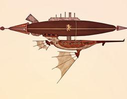 3D model Air ship steampunk