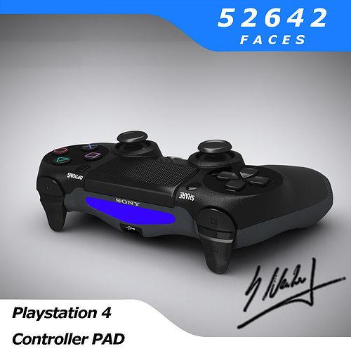 ps4 controller - sony entertainment 3d model obj fbx blend dae mtl 1