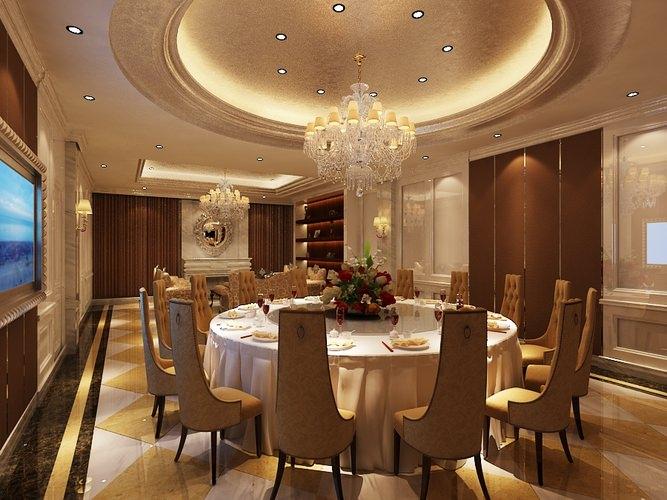 Dining room interior 3d model max for Dining room 3d model