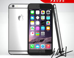 3d asset apple iphone 6 xl smartphone low-poly