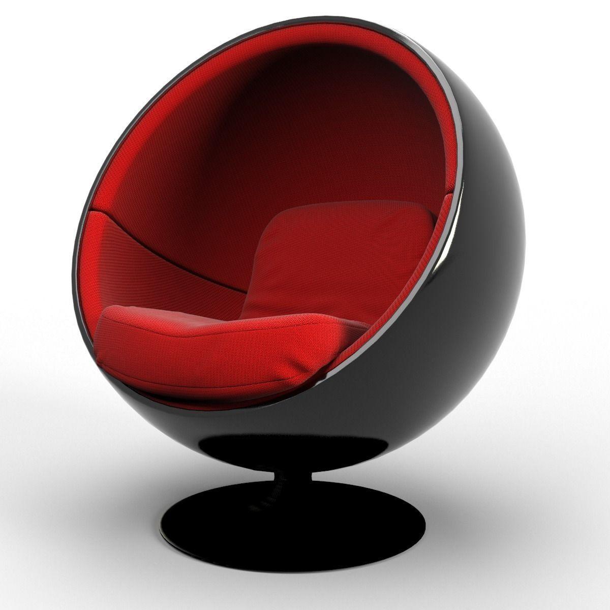 ball chair 3d model max obj fbx blend mtl 3