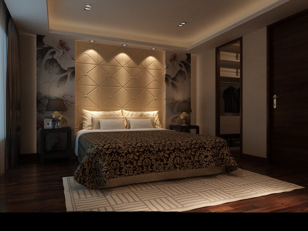 Bedroom Or Hotel Room Photoreal 3d Model Max