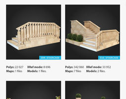 3D model Staircases Collection