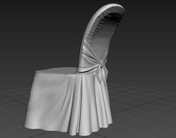 3d asset party hall chair
