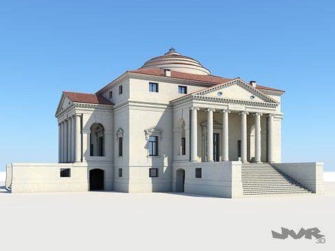 model villa capra - la rotonda 3d model max obj mtl 3ds fbx pdf 1