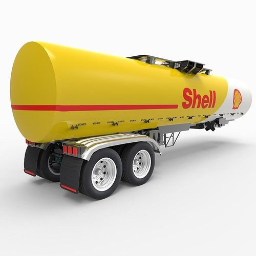 shell tanker 3d model fbx ma mb 1