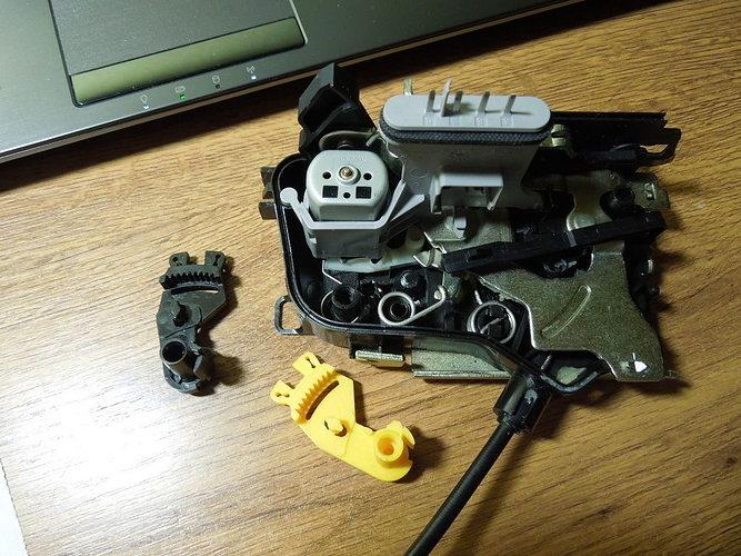 Car door lock part