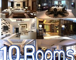 3d photoreal room collection