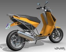 3d model albura concept scooter