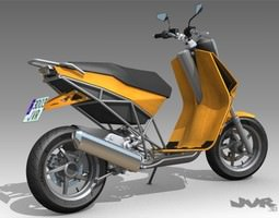 Albura concept scooter 3D Model