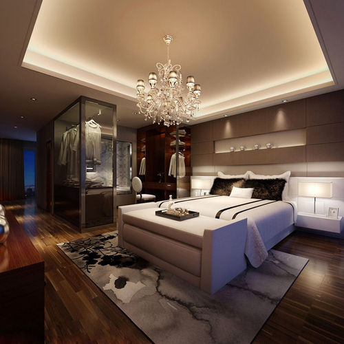Realistic bedroom design 3d cgtrader for Bedroom designs 3d model