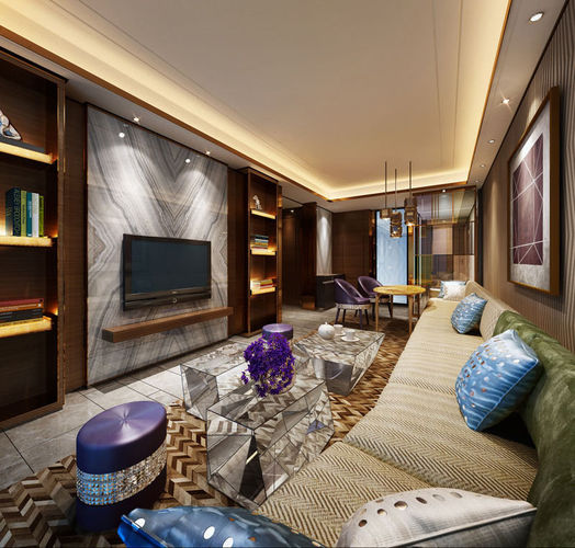 Realistic living room design 013 3d model max for Realistic living room ideas