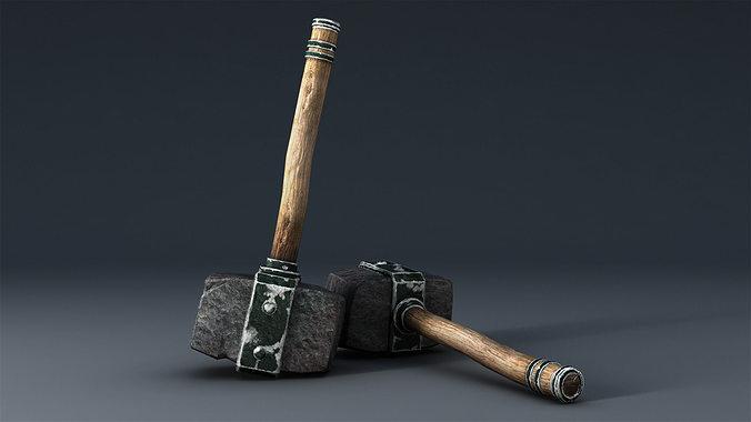 hammer 3d model low-poly obj fbx ma mb mtl tga 1