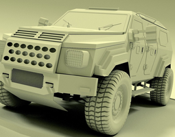 3D model gurkha armoured vehicle