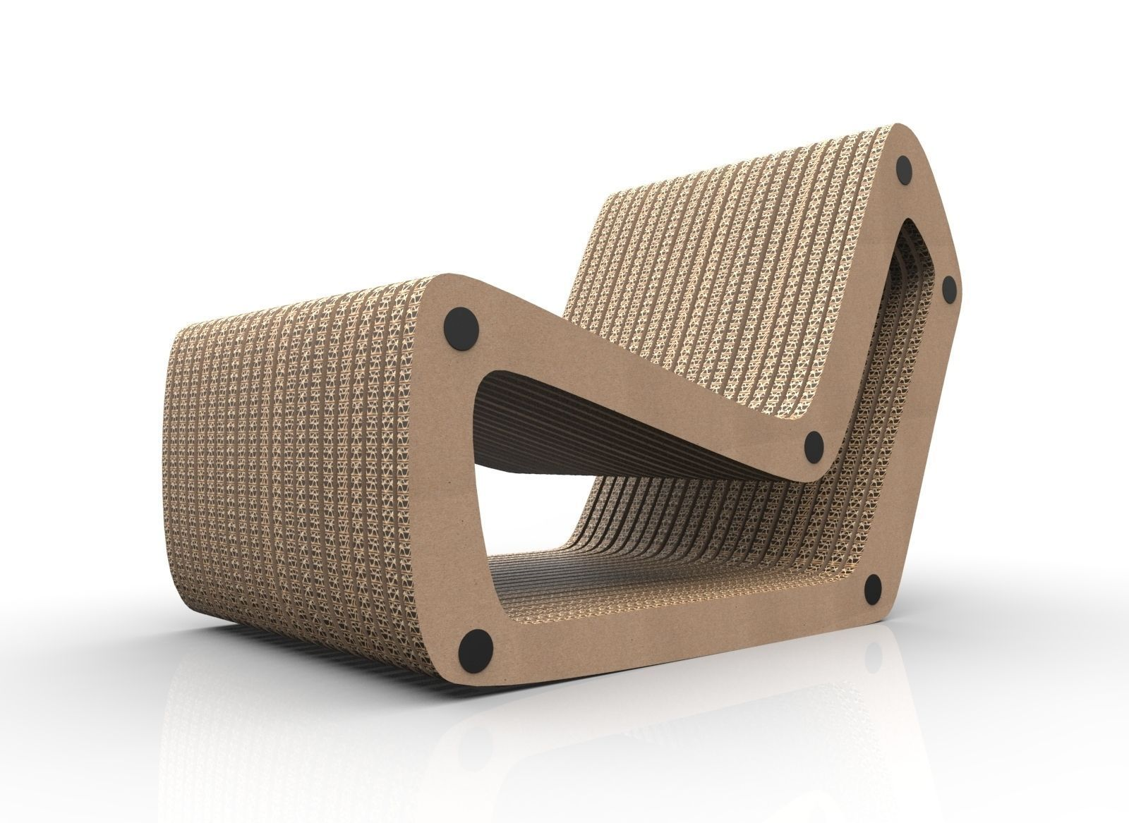 3d Model Cardboard Lounge Chair Cgtrader