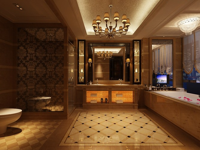 3d model bath room cgtrader for Bathroom design 3d model