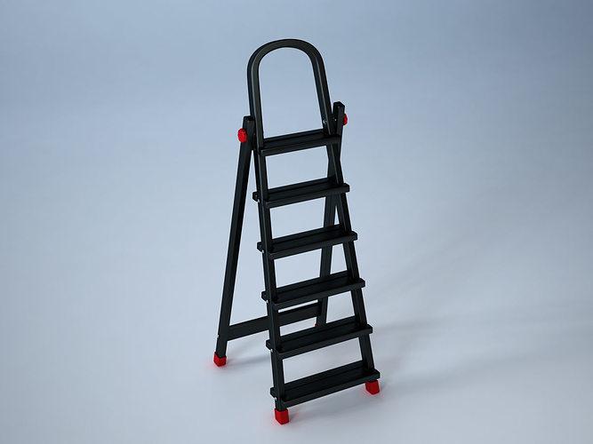 ladder 3d model obj fbx ma mb mtl 1