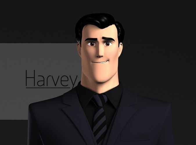 Harvey Stylized Male Character