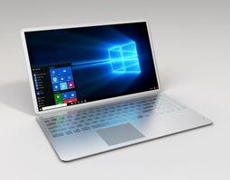 Metallic Laptop 3D model