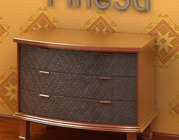 Small Chest of Drawers 09-074 3D Model