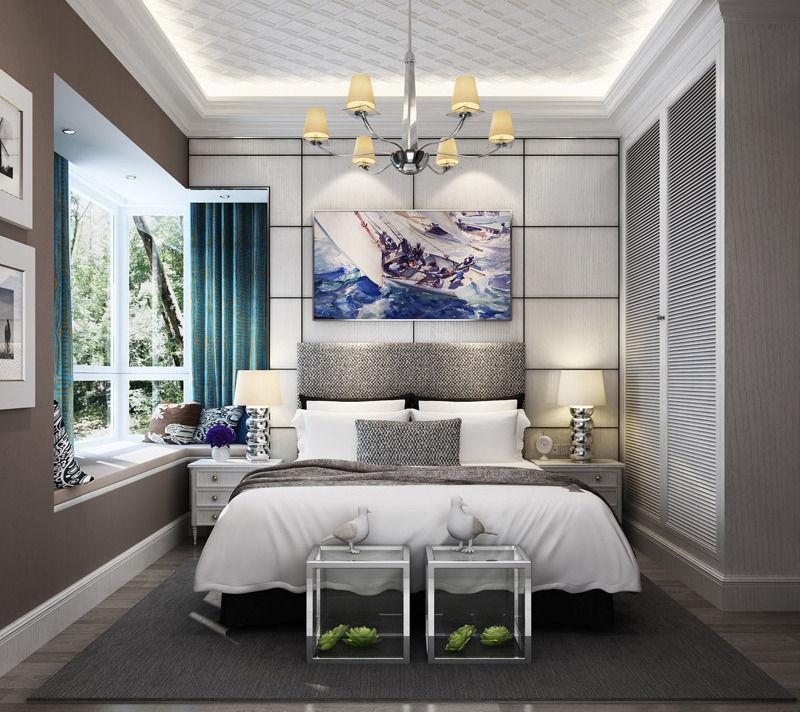 Realistic Living Room Design 036 3d Model Max