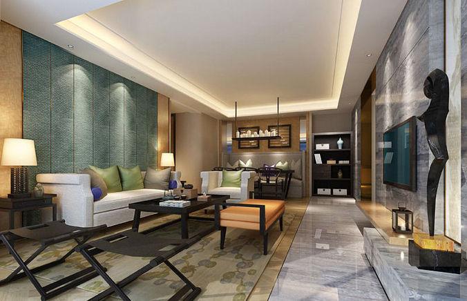 Room Realistic Living Room Design 3d Model Cgtrader