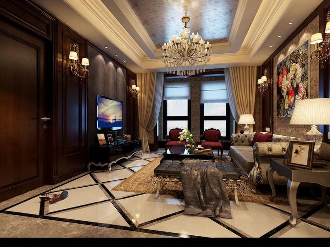 Realistic living room design 3d model realistic cgtrader for Living room designs 3d model