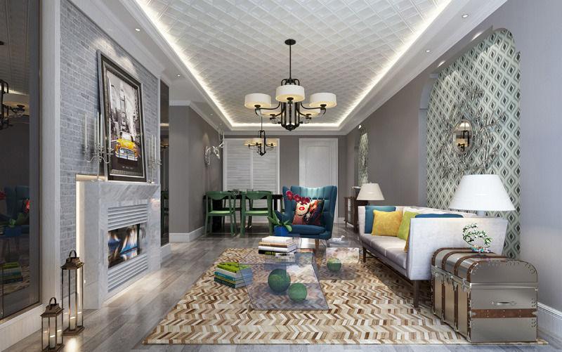 Realistic Living Room Design 035 3d Model Max