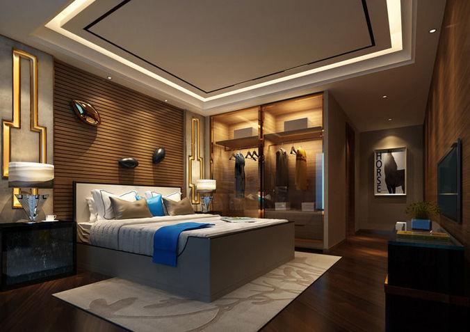 3d Model Realistic Hotel Room Design 025 Cgtrader